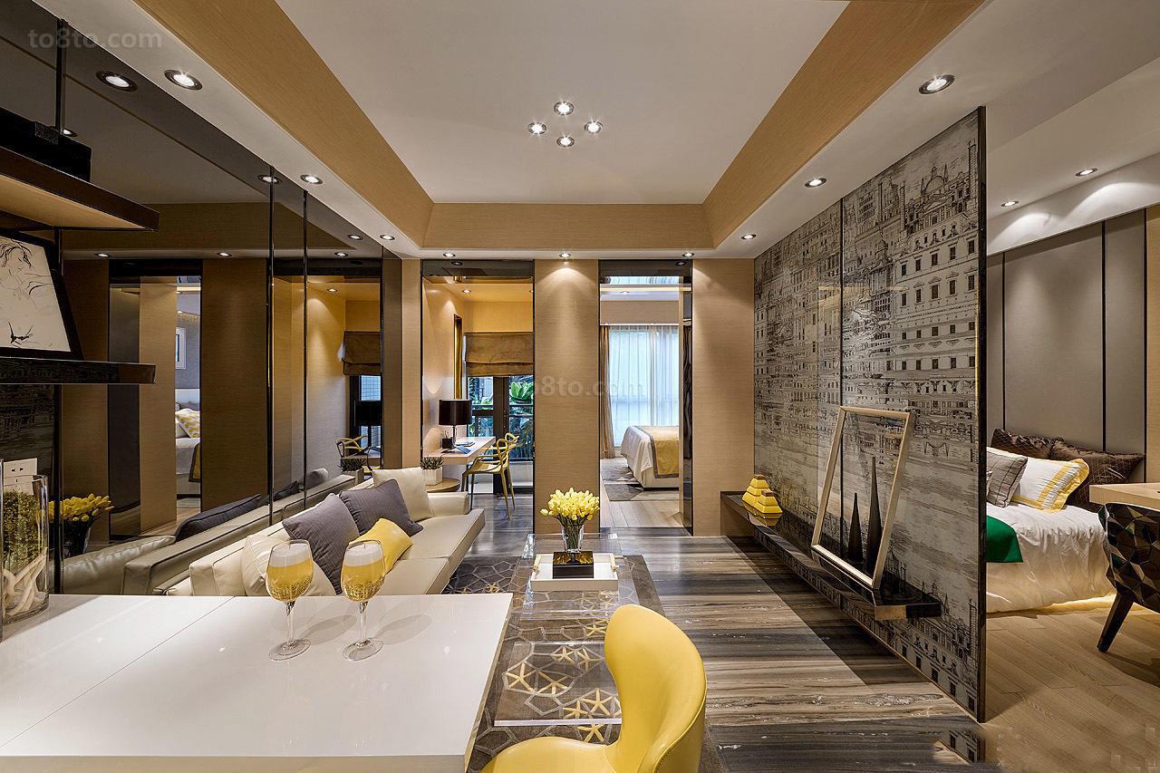 混搭风格家装设计三室两厅