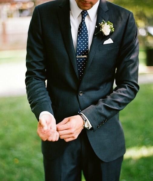 新郎衬衫领带搭配图片赏析