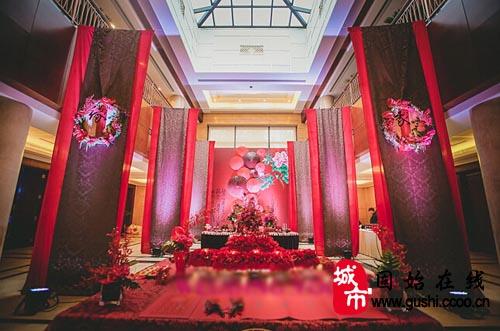 中式婚礼布置效果图欣赏 古典婚礼也可以很浪漫图片