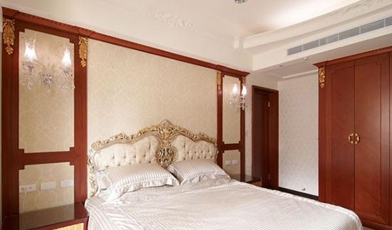针对精致古典欧式风格卧室软装设计