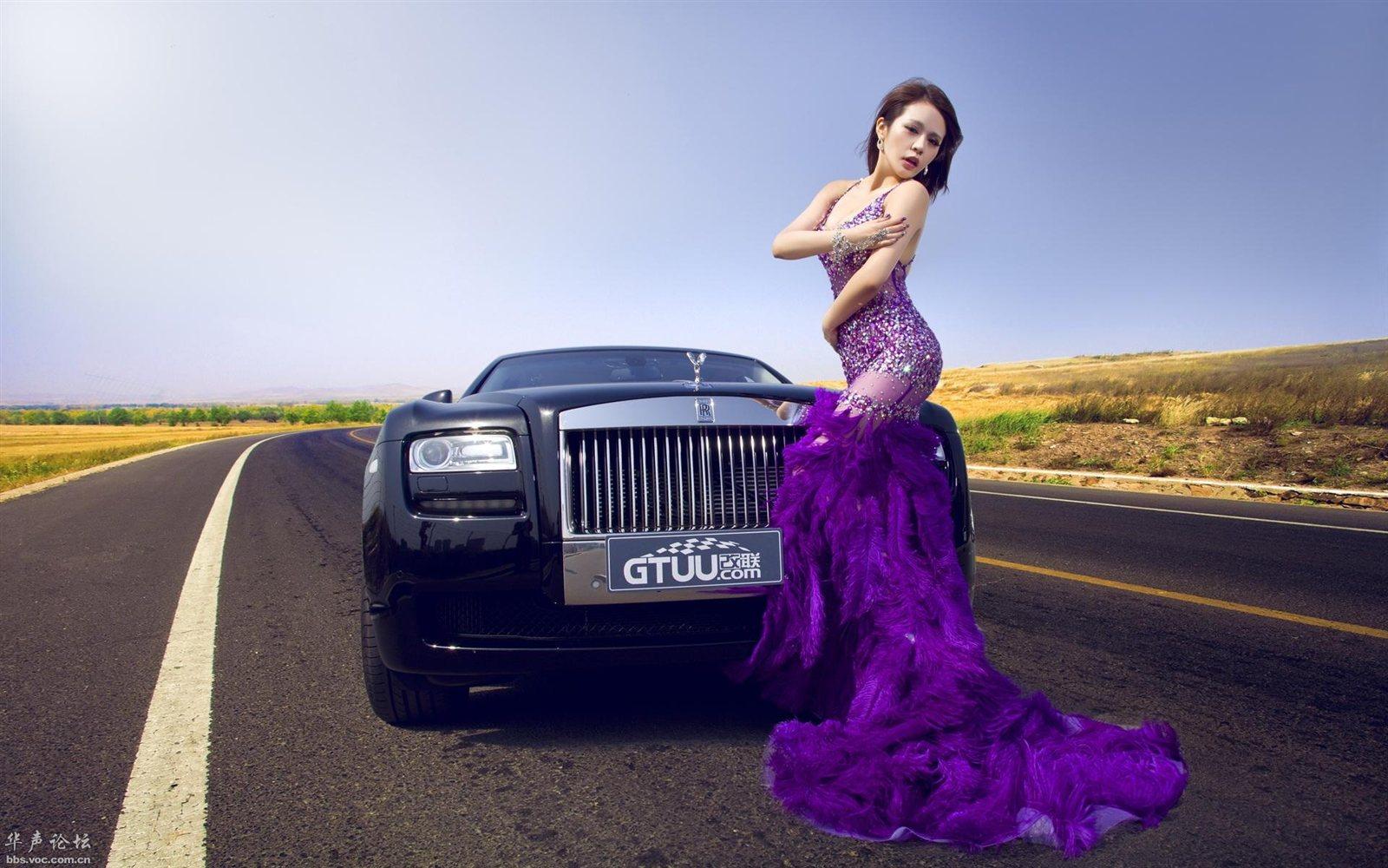 仁怀:劳斯莱斯改装车美女模特