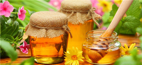 藏族美味诱人的酥油蜂蜜
