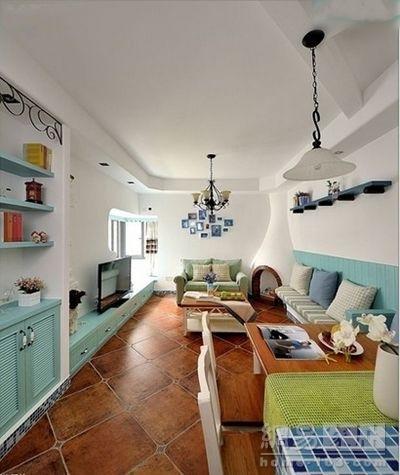 老屋的新装 89平三居地中海风格