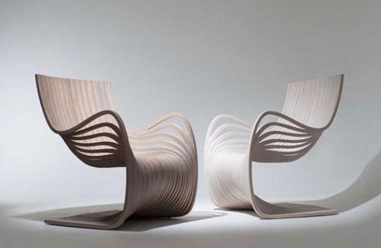 创意Pipo木椅设计,感受流畅线条美感