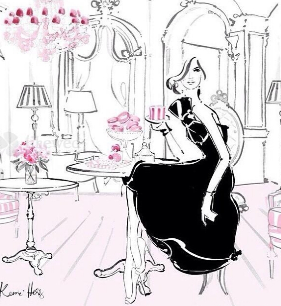 香奈儿手绘婚纱礼服