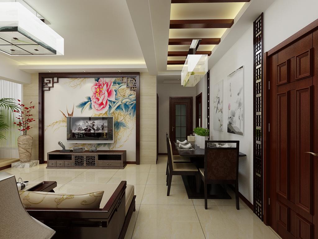 淄博九创装饰 中式装修设计案例 高清图片