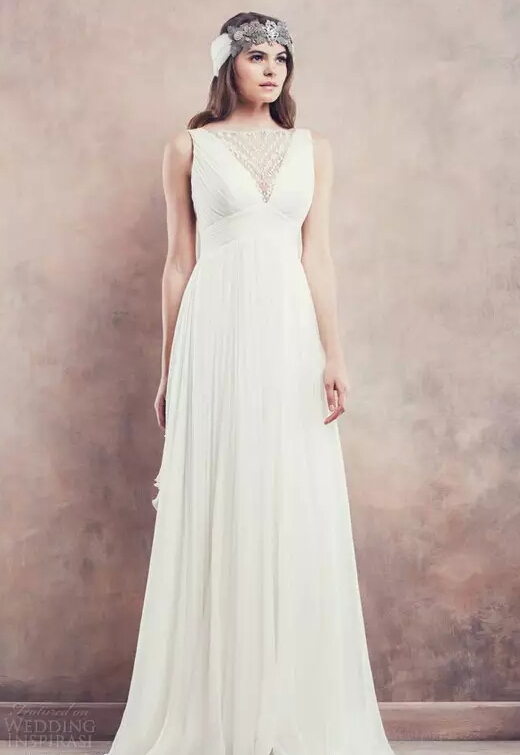 雪纺纱婚纱_...ronvias雪纺纱婚纱-适合夏季婚礼的6款婚纱