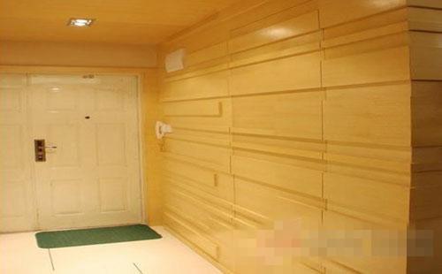 客厅影视墙隐形门效果图