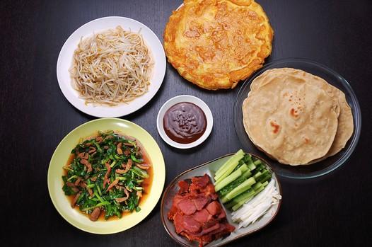今晚吃啥子第二期:春饼卷合菜