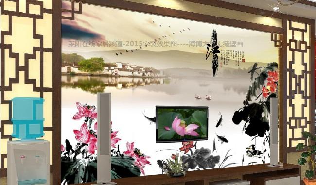 最新注册送体验金网址装修2015效果图 海博大型无缝壁画