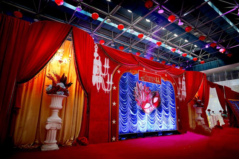 红色系主题婚礼