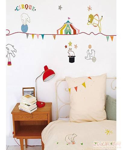 儿童房装修之创意手绘墙 精致儿童节礼物