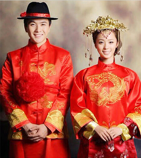 中式婚礼新郎服装搭配图片推荐