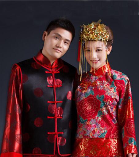 中式婚礼新郎服装搭配(图片来源于百度)