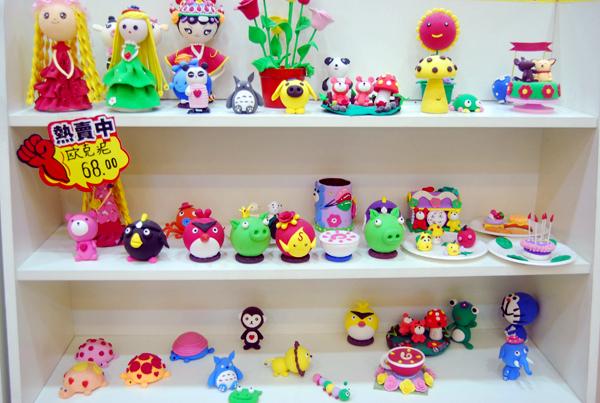 【广场】【周家地】兰州创意美术教育中心两店通用 儿童欧克泥塑像