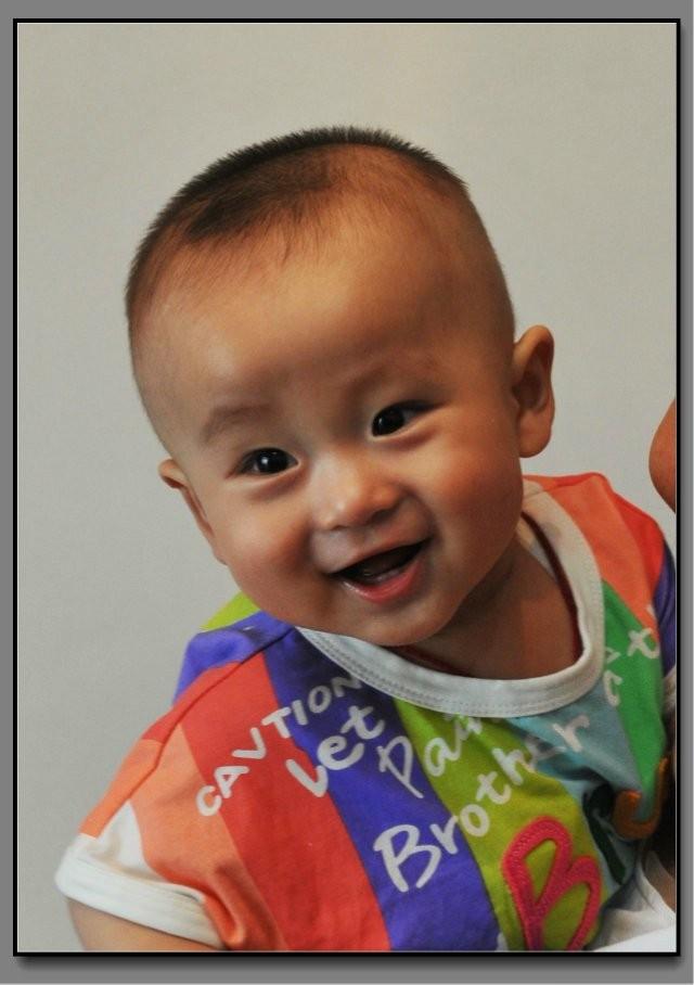 七个月男宝宝发型图片展示
