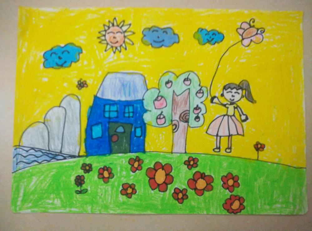 8024繪畫《春天的景色》