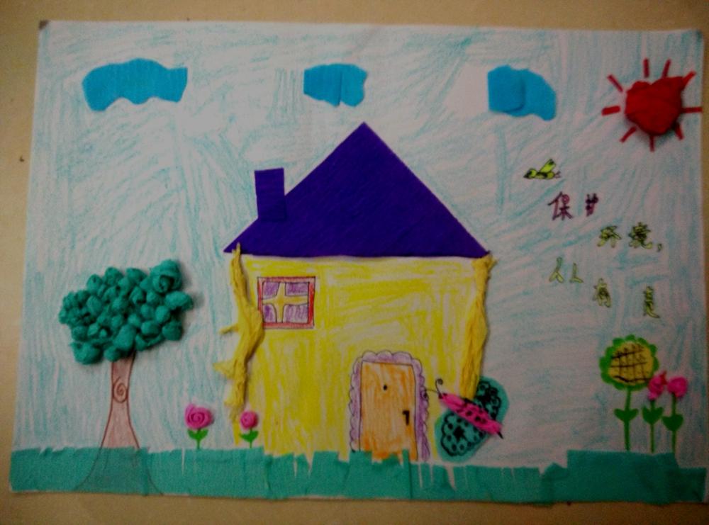 绘画 大自然的一幅画 中国梦 暨第九届 小画虫杯 国际少儿书画大赛 图片