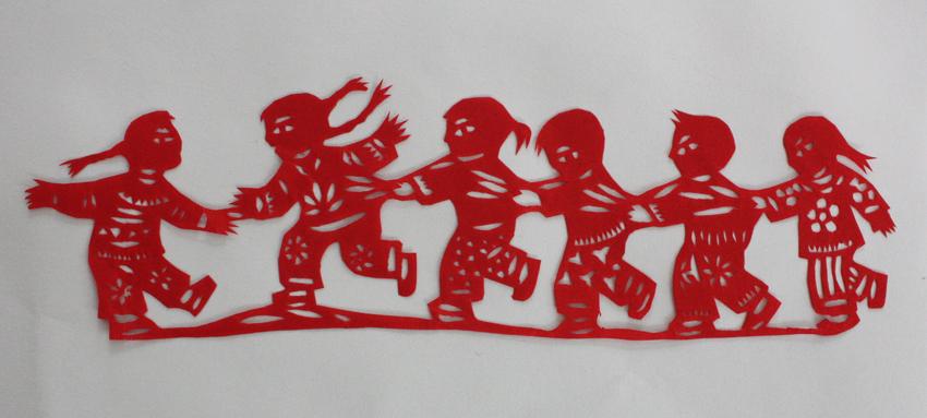 儿童剪纸娃娃步骤图_图解步骤