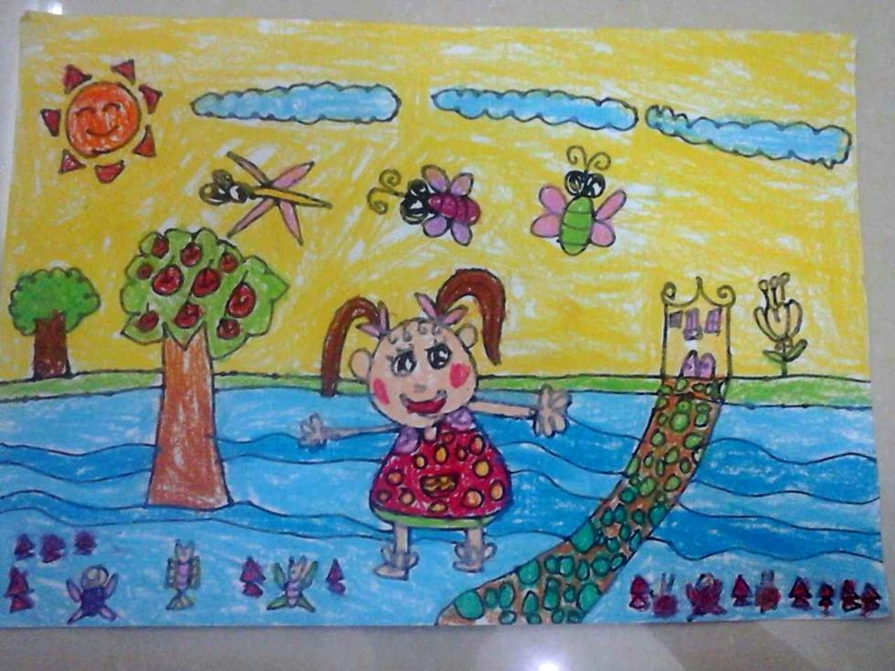 第六轮现场小画虫杯 国际少儿书画大赛 琼海赛区 作品欣赏