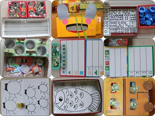 根据中班孩子的年龄特点以及各班级的实际情况,创设了数学区图片