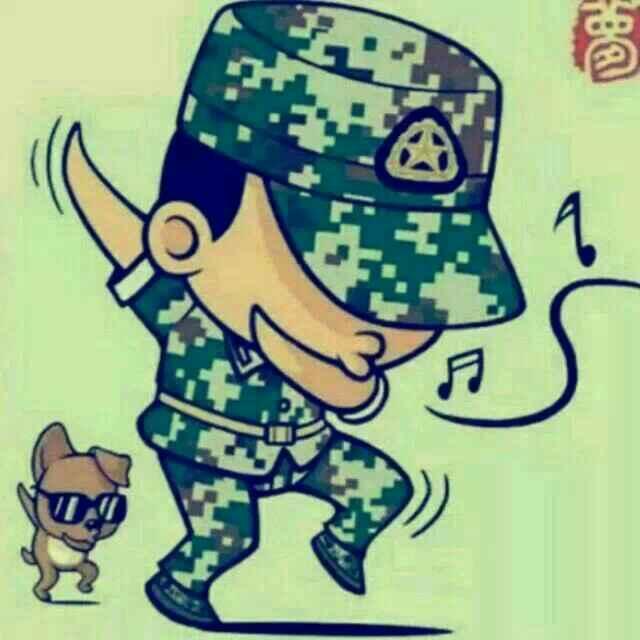 军人怎么画儿童画图片
