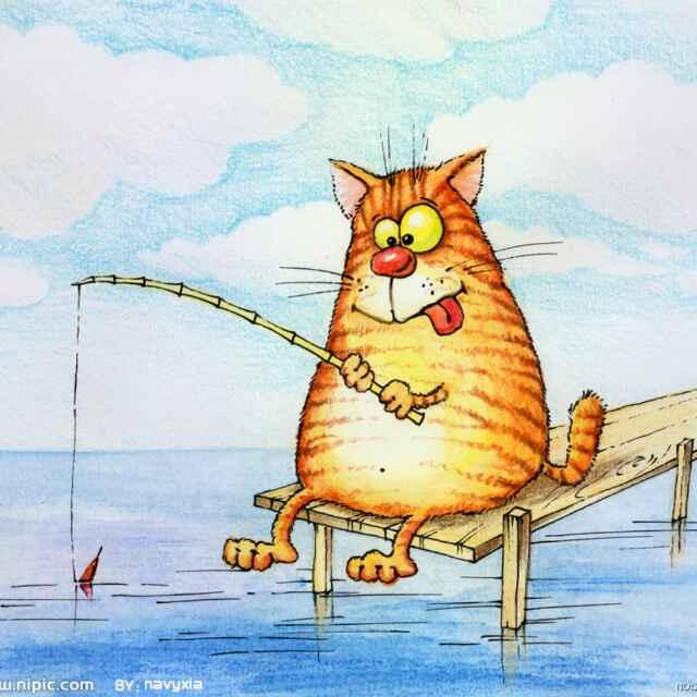 一只可爱懒猫简笔画