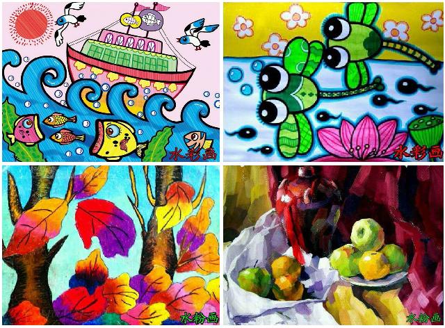 创意美术:儿童画,油画棒画,彩色铅笔画水彩画,水粉画,国画,水墨画