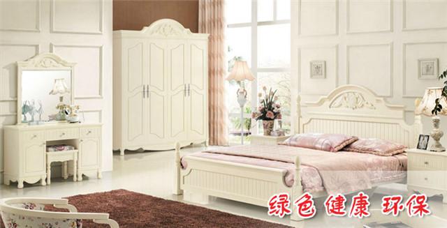 木工做的欧式床图片